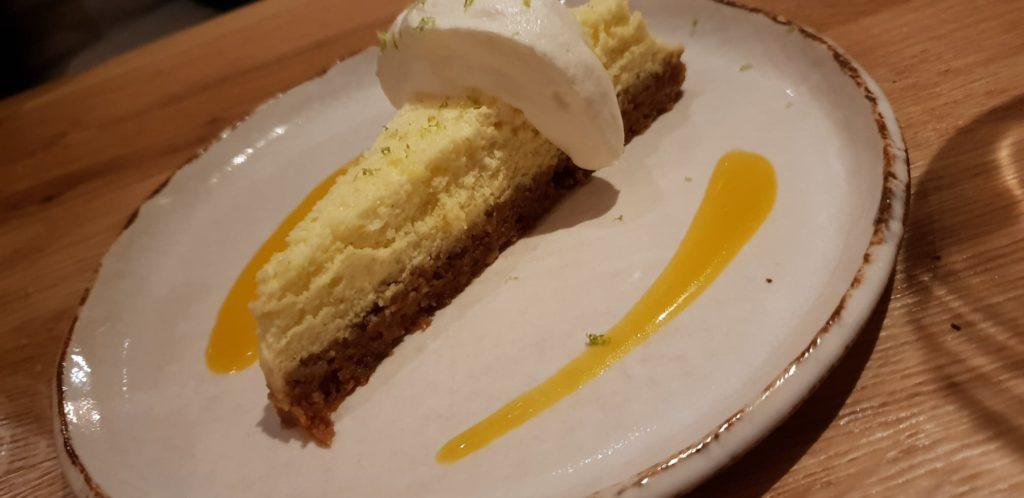 Le cheesecake sorbet citronné au yaourt. La note finale explosive